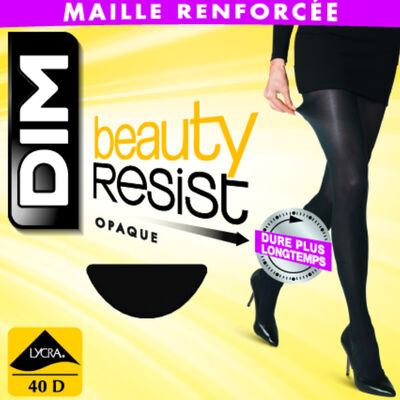 Collant Beauty Resist noir Opaque 40D, , DIM