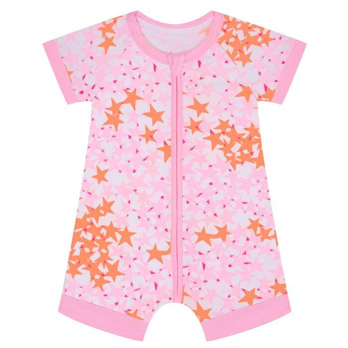Barboteuse bébé zippée Imprimé Étoiles roses DIM Baby, , DIM