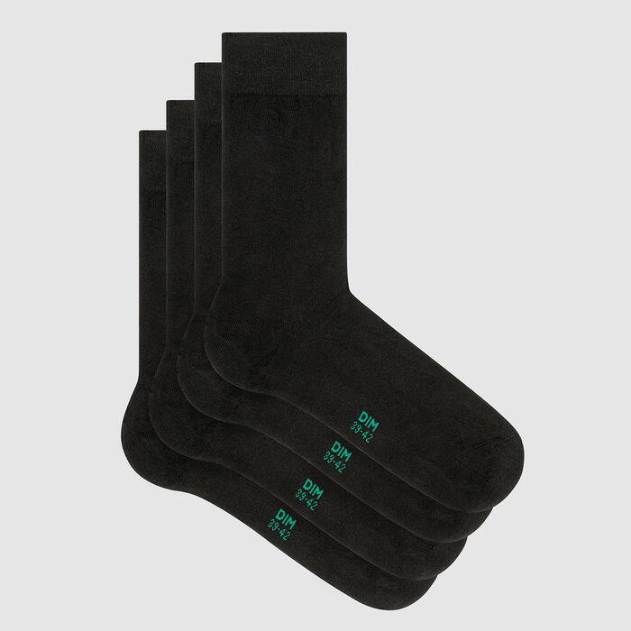 Lot de 2 paires de chaussettes homme lyocell Anthracite Green by Dim, , DIM