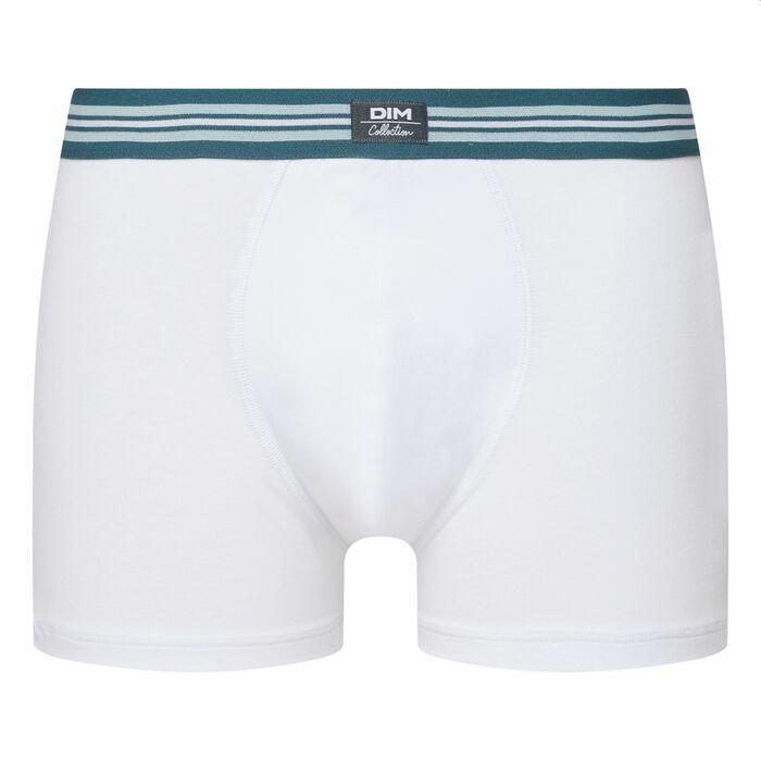 Boxer homme en coton stretch Blanc Smart Boxer, , DIM