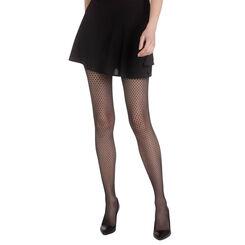 Collant noir résille structurée Madame So Fashion-DIM