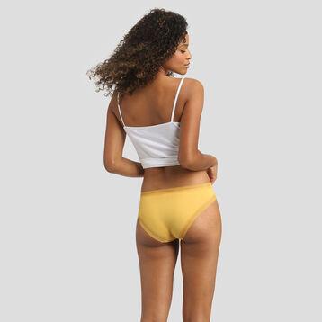 Culotte en microfibre jaune or pour femme Bar à Culottes Dim, , DIM
