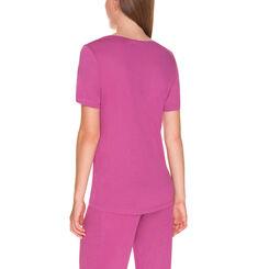 T-shirt de pyjama manches courtes violet cassis Femme-DIM