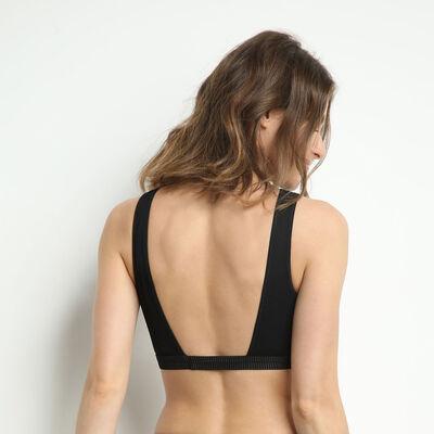 Brassière dos nu avec plastron en dentelle Noir Jolie Madame, , DIM