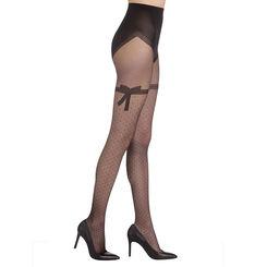 Collant noir Sexy nœud dentelle transparent 20D-DIM 263e5e3eaed