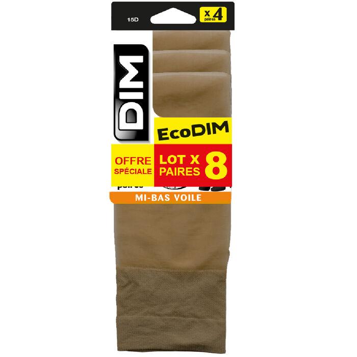Lot de 4 mi-bas voile daim EcoDIM 15D, , DIM
