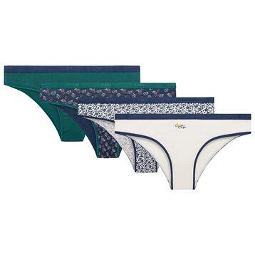 Lot de 4 culottes Floral - Les Pockets Coton Stretch, , DIM