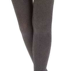 Collant chaud noir et gris motif urban pixel Style 220D, , DIM