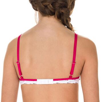 Soutien-gorge triangle rose framboise DIM Girl-DIM