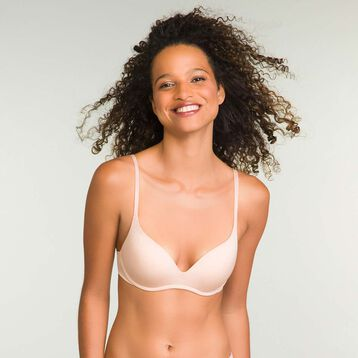Soutien-Gorge Push-Up Skin Rose sans armatures InvisiFree, , DIM