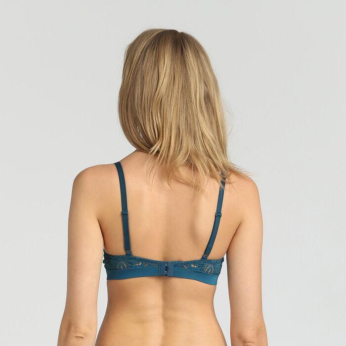 Soutien-gorge corbeille ampliforme dentelle bleu organique Daily Glam de Dim, , DIM