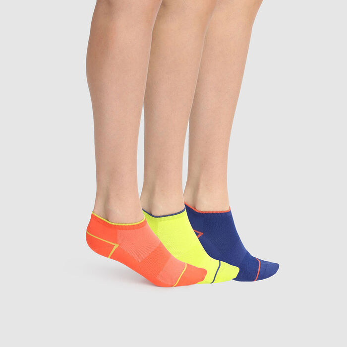 Lot de 3 paires de chaussettes basses femmes X Temp fluo Dim Sport, , DIM
