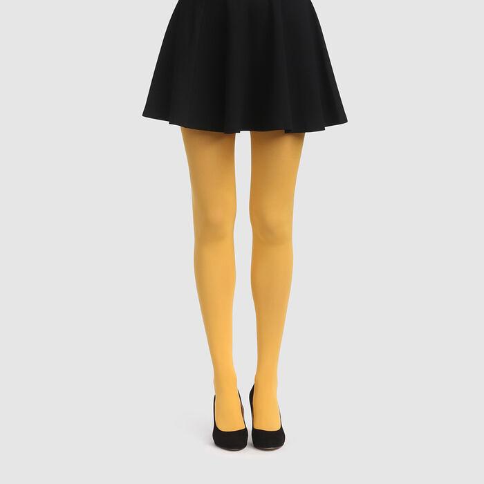 Collant jaune or opaque velouté Style de Dim 50D, , DIM