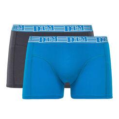 Lot de 2 boxers bleu azur et gris EcoDIM coton stretch, , DIM
