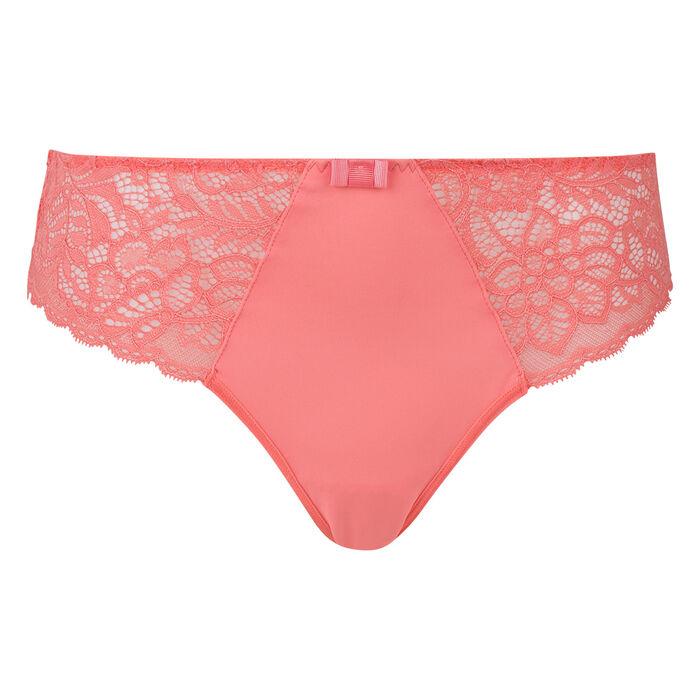 Culotte corail rosé Sublim Dentelle recyclée, , DIM