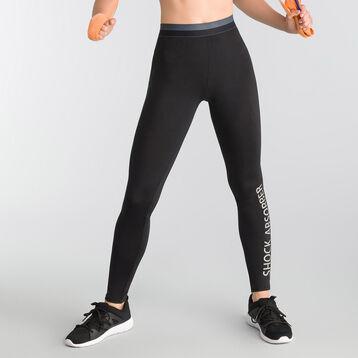 Legging long de sport noir avec logo - Shock Absorber, , DIM