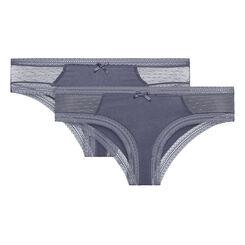 Lot de 2 Shortys gris Sexy Transparency-DIM