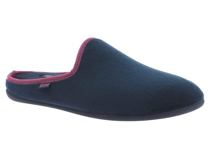 Chaussons bleu marine avec coutures bordeaux-DIM