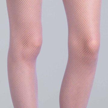 Collant résille lilas 73D Style-DIM