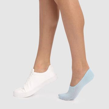 Lot de 2 protège-pieds bleu cachemire spécial baskets Invisifit 107D, , DIM
