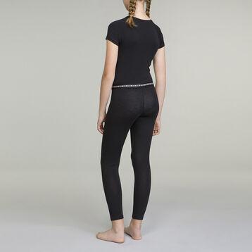 Tee-shirt noir pour fille manches courtes en coton stretch Dim Sport, , DIM