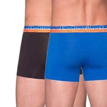 Lot de 2 boxers Urban Way bleu profond et noir-DIM