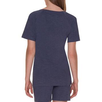 T-shirt manches courtes bleu ombré pyjama Femme-DIM