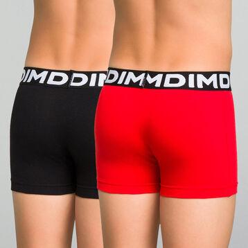 Lot de 2 boxers garçon noir et rouge à imprimé - Box japon, , DIM