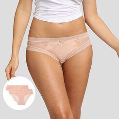 Lot de 2 culottes skin rose Sexy Transparency de Dim, , DIM
