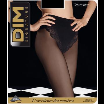 Collant DIM SIGNATURE noir Ventre Plat 20D-DIM