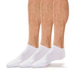 Lot de 3 paires de socquettes blanches en coton Homme-DIM