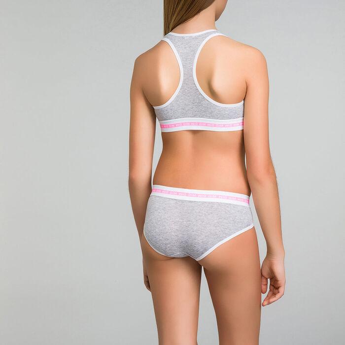 Mottled grey sport bra - Dim Sport , , DIM