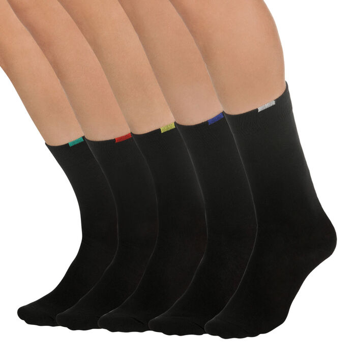 Lot de 5 paires chaussettes noires EcoDIM Homme-DIM