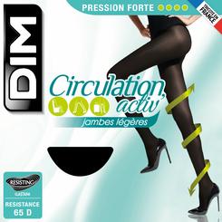 Collant Circulation Activ' noir à pression modérée 65D-DIM