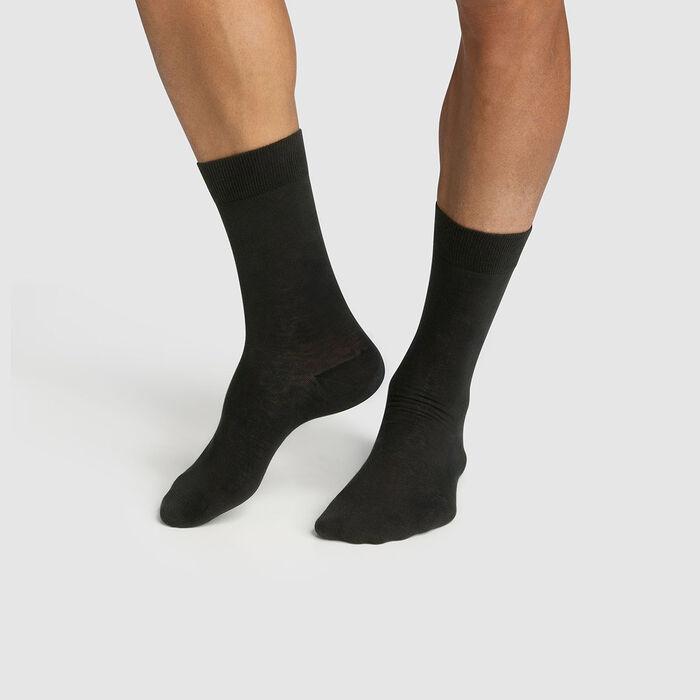 Lot de 2 paires de chaussettes homme en coton bio Anthracite Green by Dim, , DIM
