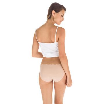 Lot de 2 slips new skin et blanc en coton Body Touch-DIM