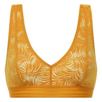 Brassière dentelle femme jaune or - MOD de Dim, , DIM