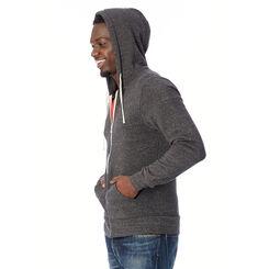 Sweat à capuche zippé noir Homme-DIM