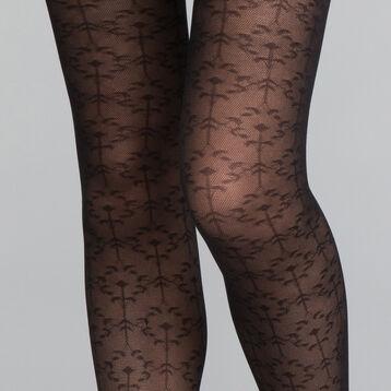 ... DIM Collant fantaisie motif feuillage précieux noir 20D - DIM Style cfc33f6f038
