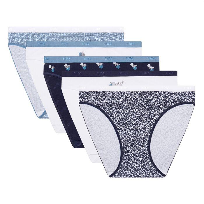 Lot de 5 boxers en coton stretch imprimé boréal Les Pockets Coton de Dim, , DIM