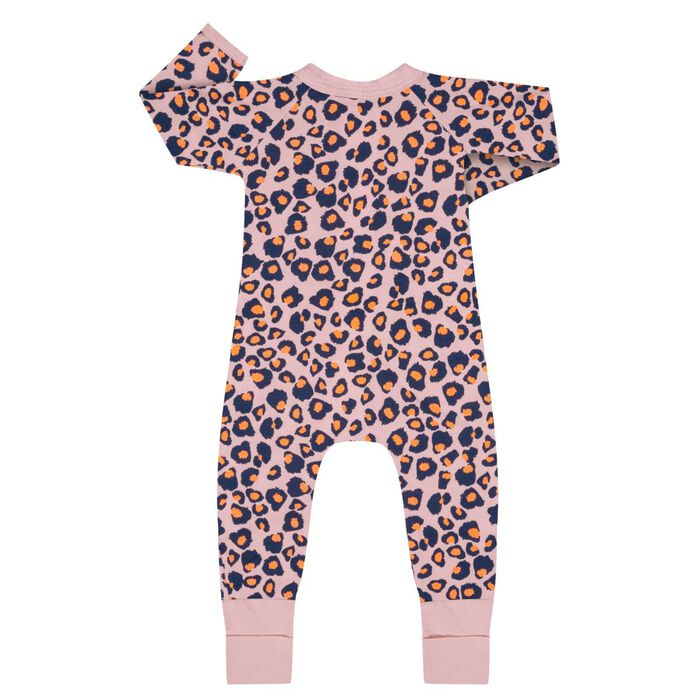 Pyjama bébé zippé Imprimé Rose moucheté DIM Baby, , DIM