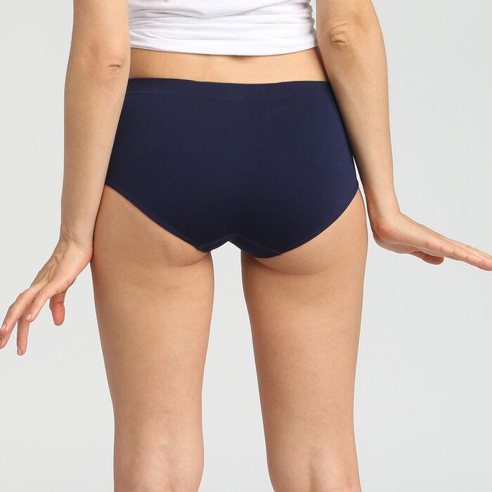 Lot de 2 boxers microfibre sans coutures bleu/rose Les Pockets EcoDim , , DIM