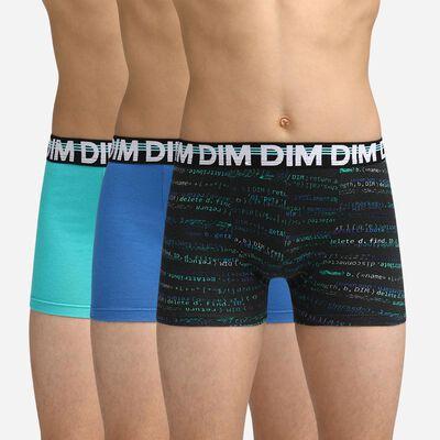 Lot de 3 boxers Garçon Bleus Dim Boy, , DIM