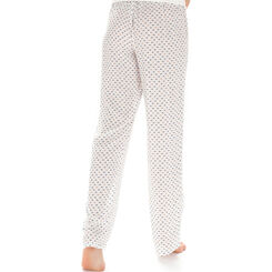 Pantalon de pyjama nacre imprimé nœuds Femme-DIM