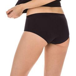 Lot de 2 boxers blanc et noir Femme Les Pockets Microfibre-DIM