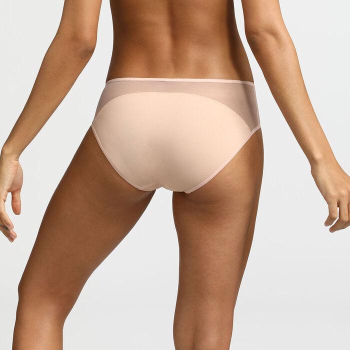 Culotte en microfibre nude pailleté Generous Limited Edition Dim, , DIM