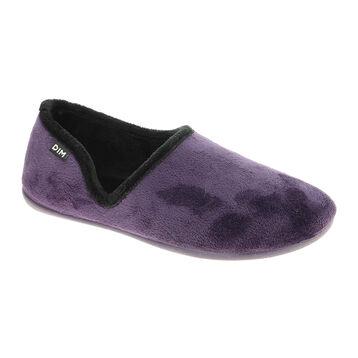 Chaussons ballerines violets en velours Femme-DIM