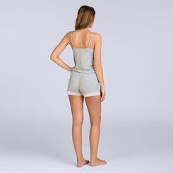 Combinaison short grise Pure Essential Femme-DIM