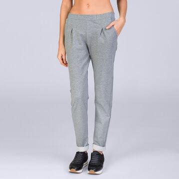 Tregging joggers gris chiné Femme-DIM