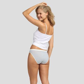 Lot de 5 culottes imprimé rayures rétro Les Pockets Coton Stretch Dim, , DIM